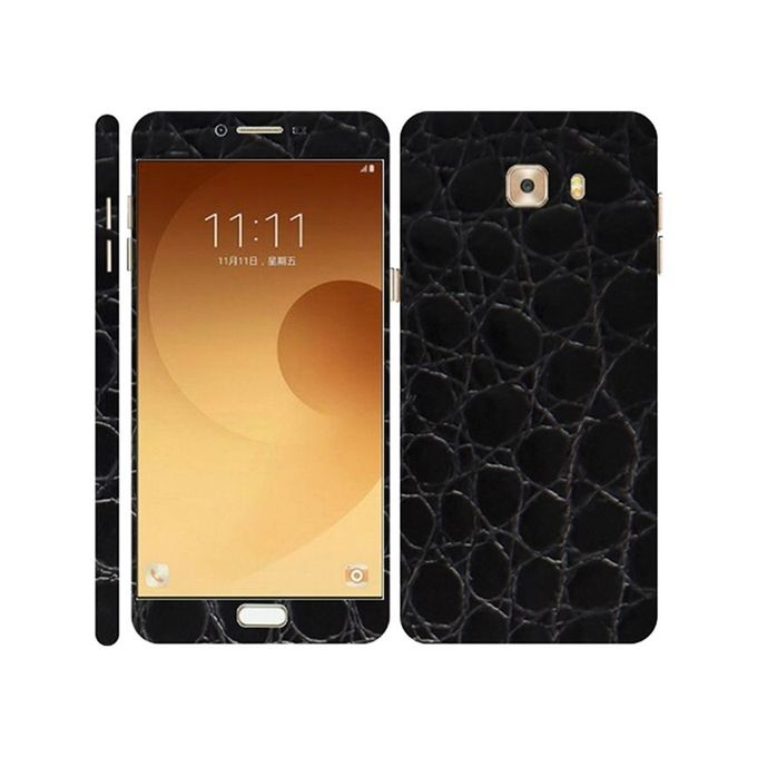 Samsung Galaxy C9 Pro 3M Black Crocodile Leather Texture Mobile Skin