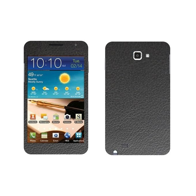 Samsung Galaxy Note Black Common Leather Texture Mobile Skin