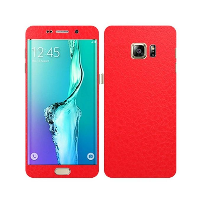 Samsung Galaxy S6 Edge Plus Red Common Leather Texture Mobile Skin