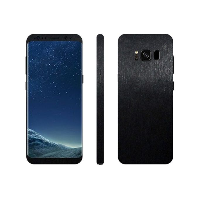 Samsung Galaxy S8 3M Black Brushed Metal Texture Mobile Skin