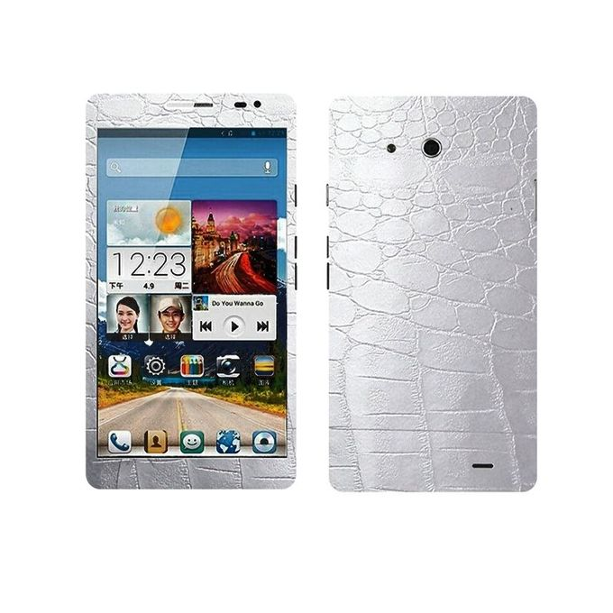 Textured Skin For Huawei Ascend Mate - Silver