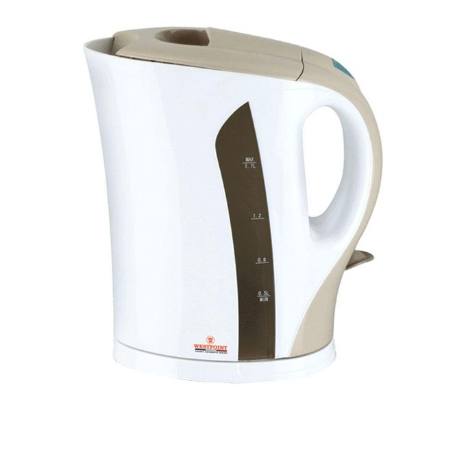 Westpoint Electric Kettle WF-3118 - 1.7 LTR - White & Brown