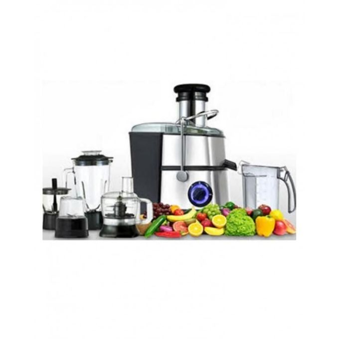 Westpoint Official WF-8818 - Deluxe Multi Function Food Processor - 1000 Watts - Silver & Black