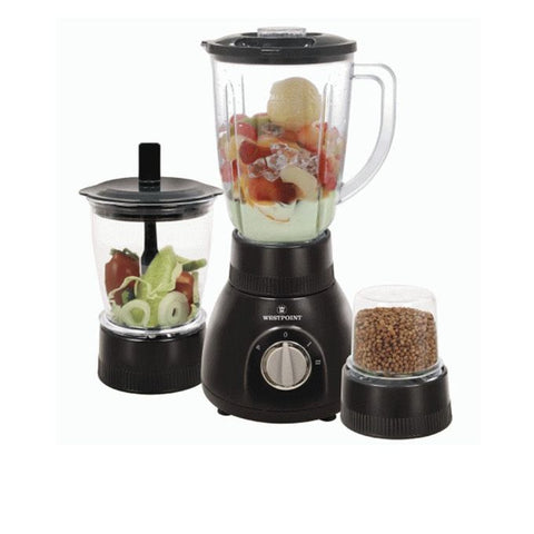 Westpoint WF-314 - Blender Dry & Chopper Mill - 3 in 1 - Black