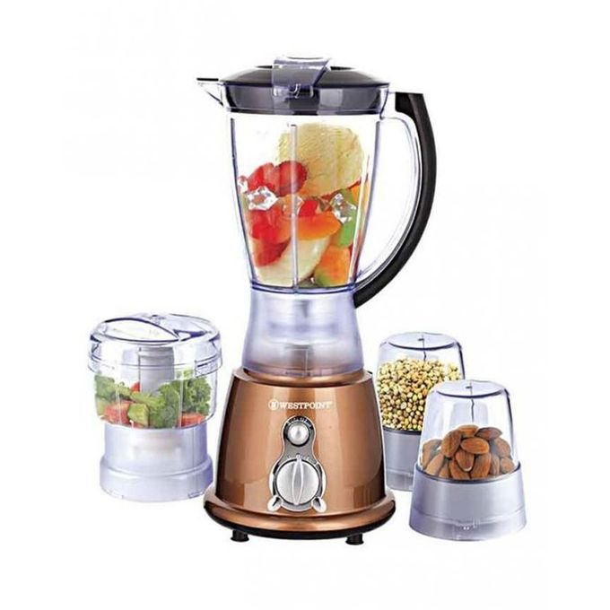 Westpoint WF-445 - Deluxe Multi Function Blender - 450 Watts - Brown
