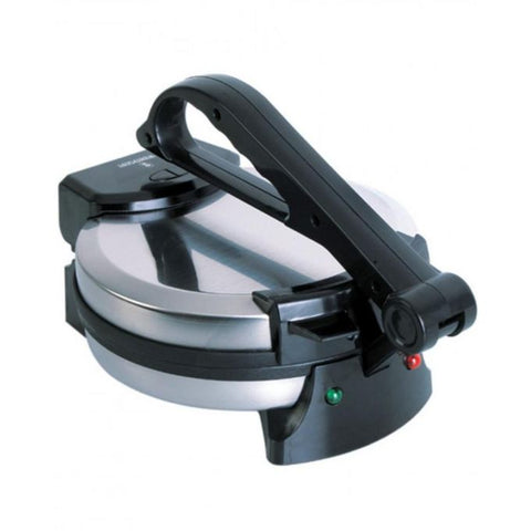 Westpoint WF-6515 - Metal Deluxe Roti Maker With Timer - 10 - Silver & Black