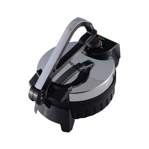 Westpoint WF-6516 - Deluxe Roti Maker With Timer - 10  Inch - Silver & Black