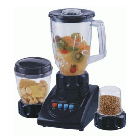 Westpoint WF-7381 - Deluxe Blender Dry & Wet Mill - 3 In 1 - Black - 350 Watts