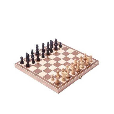 Wooden Chess Game - Brown