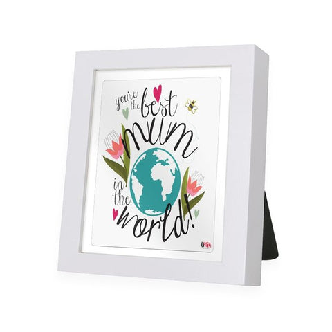 World Best Mom White Frame - IAM-WF5