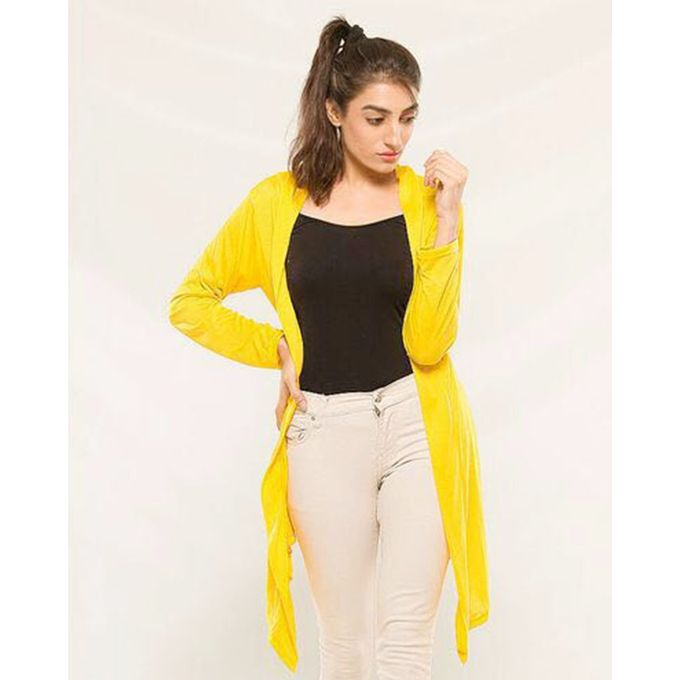 Yellow Stylish shrug for women