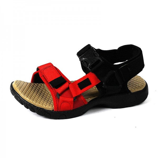Red Casual Summer Paternity Sandals for Men