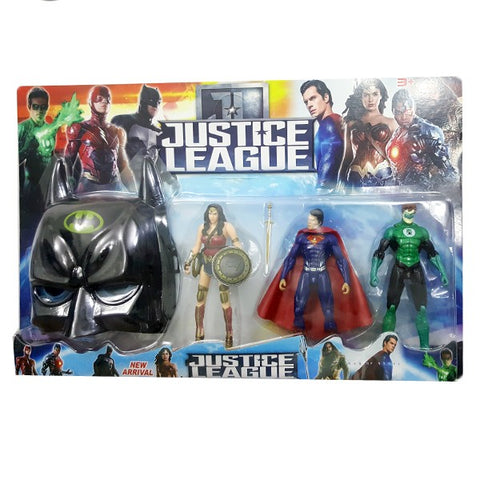 Justice League 3 Action Figure With Mask for Kids