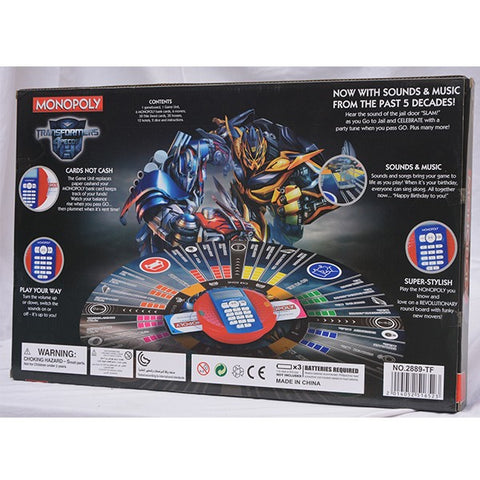 Transformers Monopoly Electronic Banking Edition for Kids