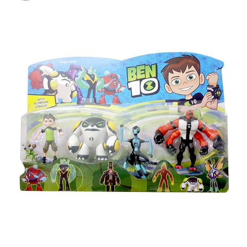 Ben 10 with 5 Character Figure set for Kids