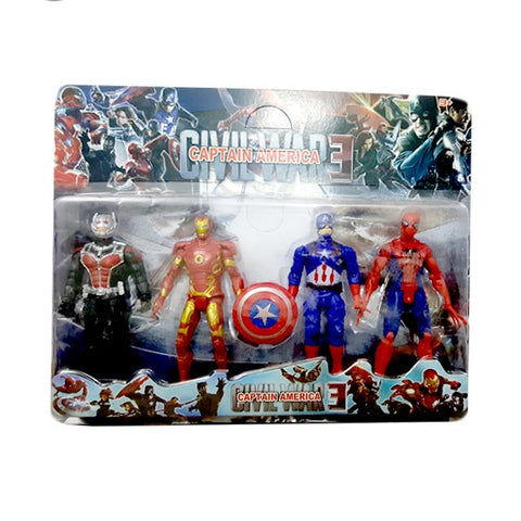 Captain America 4 Action Figure Heroes for Kids