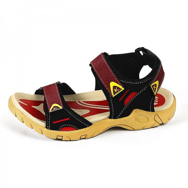 Red Antique Fum Casual Sandals for Men