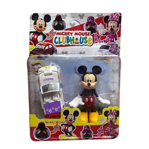 Micky Mouse with White Car for Kids