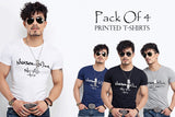 Pack of 4 Half Sleeves Printed T-Shirts for Men