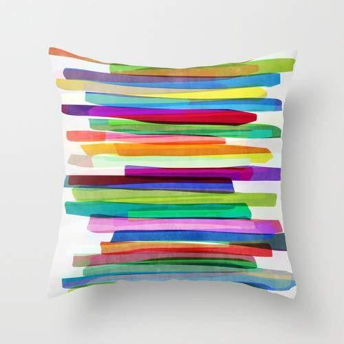 Colorful Stripes Cushion Pillow