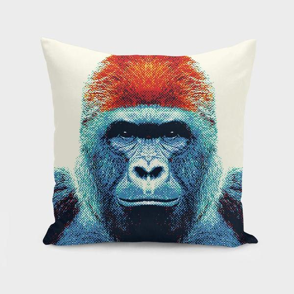 Gorilla Colorful Animals Cushion Pillow