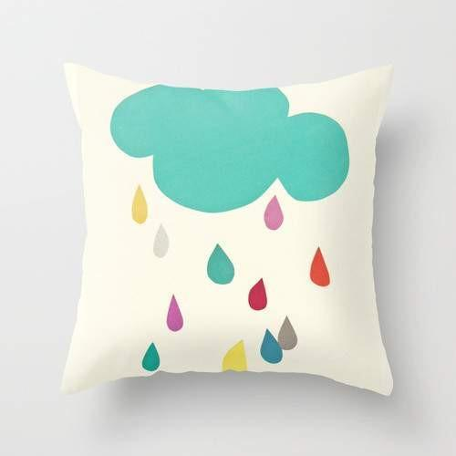 Sunshine And Showers Cushion Pillow