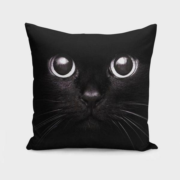 The Black Cat Cushion Pillow