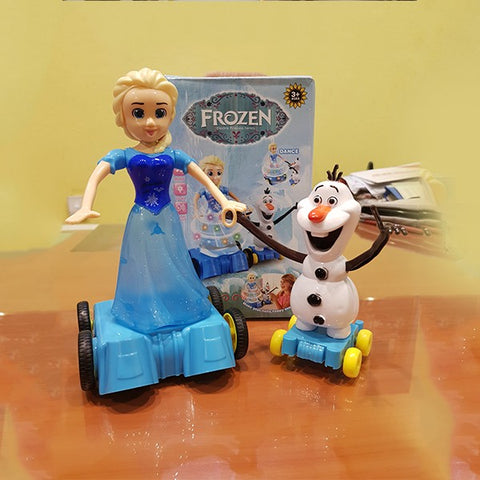 Dancing Elsa With Olaf