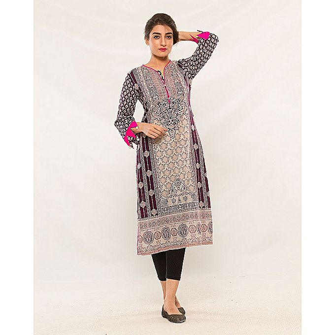 FC Cotton Embroidered Kurta for Women