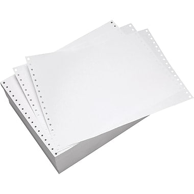 "Carbonless Continuous Paper (White+White) 2-Ply (11"" x 14 7/8"")2000 sheets/box"