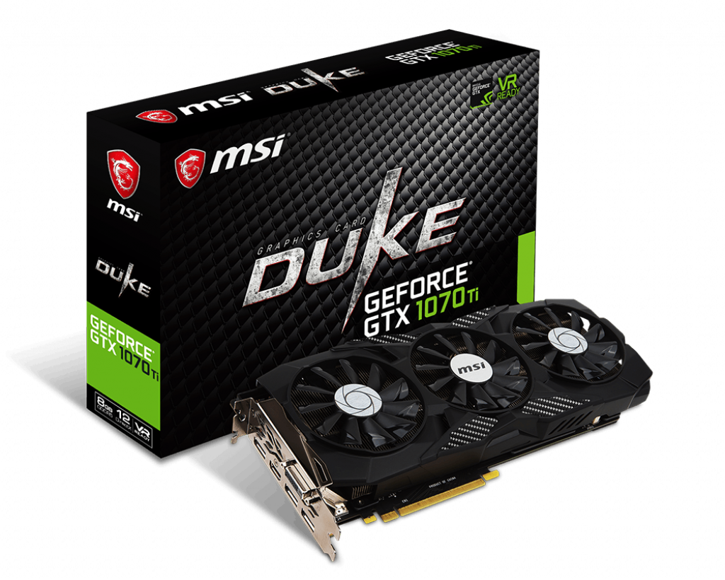MSI DUKE GEFORCE GTX 1070TI 8GB GDDR5