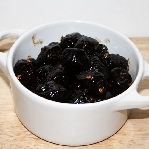 Dried Black Olives with Chilli