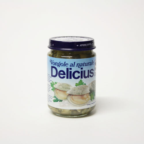 Delicius - Vongole al Naturale (Clams in Salt Water) 130g