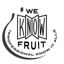 We Know Fruit Core Range Sticker in Black