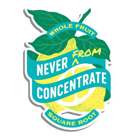 Never From Concentrate Sticker