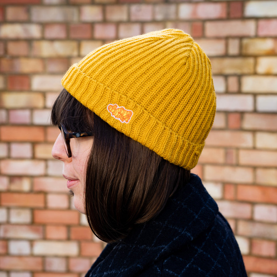 Square Root Ginger Mustard Beanie