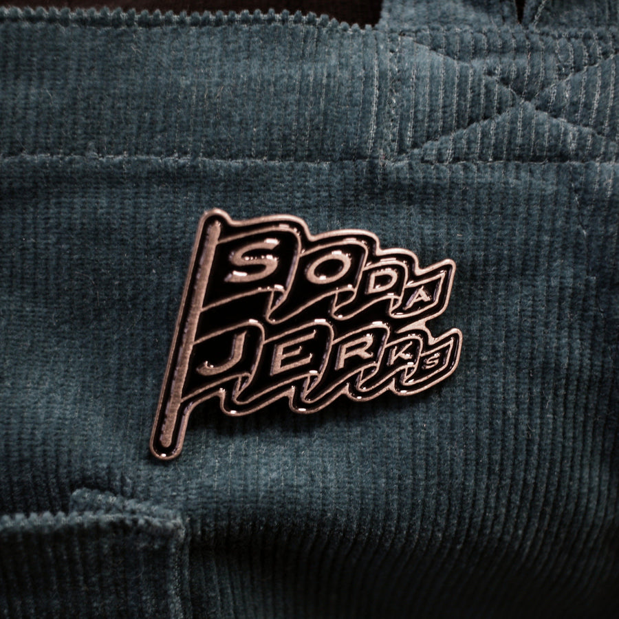 Square Root Soda Jerks Enamel Pin Badge