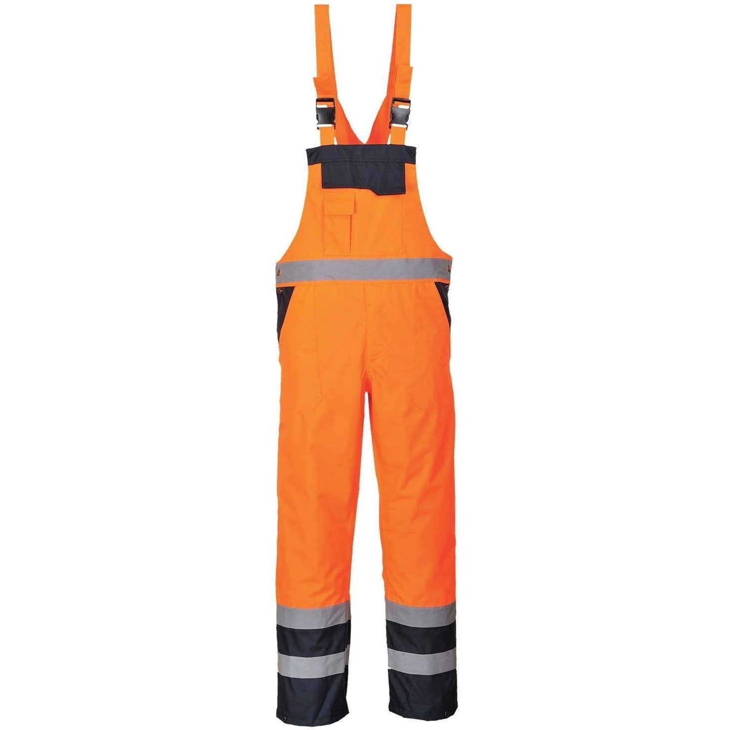 Portwest Contrast Bib & Brace - Unlined S488 - reid outdoors
