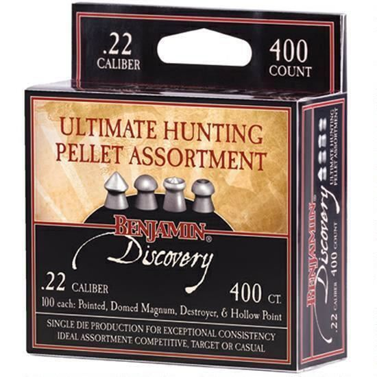Benjamin Sheridan Assorted Pellets .22 Caliber 400 Count 22BHPA