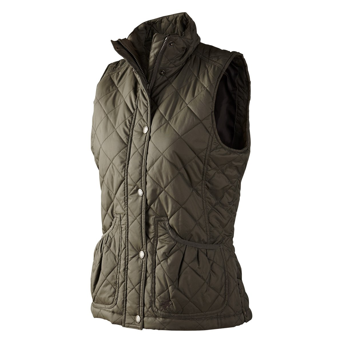 Seeland Cottage Quilt Lady Waistcoat - Black Olive - reid outdoors