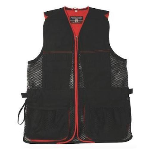 Percussion Gilet Ball Trap Evo Skeet/Clay Shooting Vest - Black & Red - reid outdoors