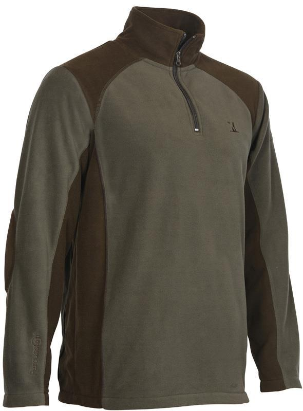 Percussion Fleece Top- Olive Green - reid outdoors