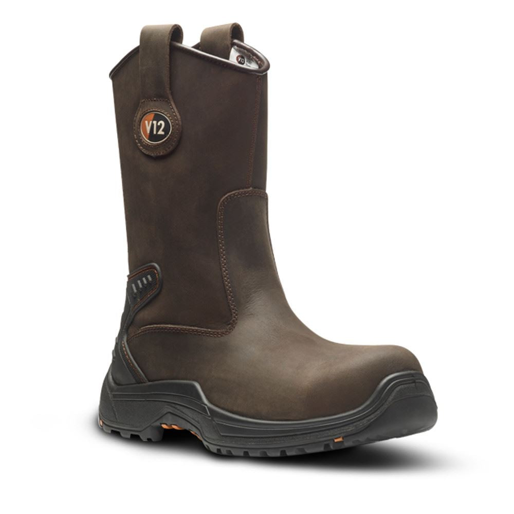 V12 Tigris Brown Waxy Unlined Rigger Boot