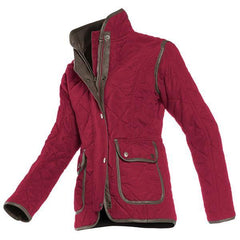 Baleno Hepburn Fashionable Quilted Ladies Jacket - Burgundy