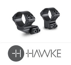 "Hawke 1"" Reach Forward 30mm 2 Piece 9-11mm High - reid outdoors"