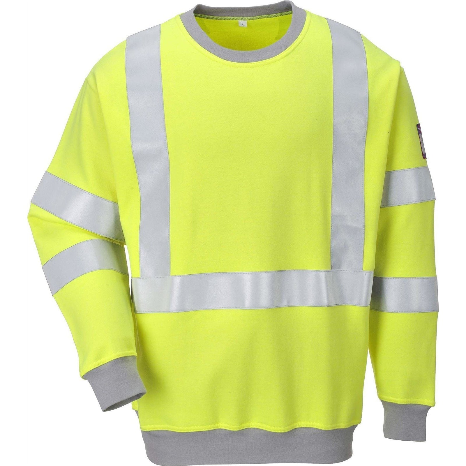 Portwest Flame Resistant Anti-Static Hi-Vis Sweatshirt FR72 - reid outdoors