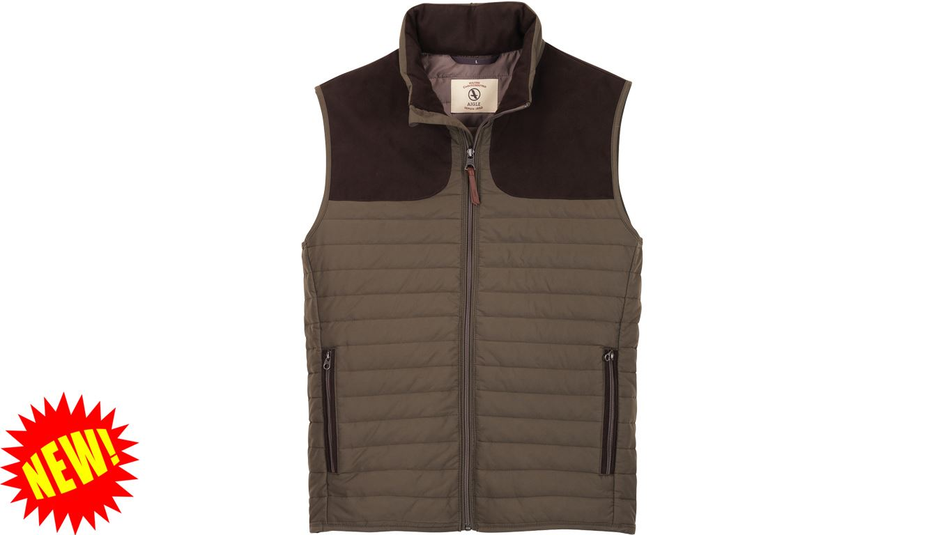 Aigle Crochy Quilted Gilet - Bronze