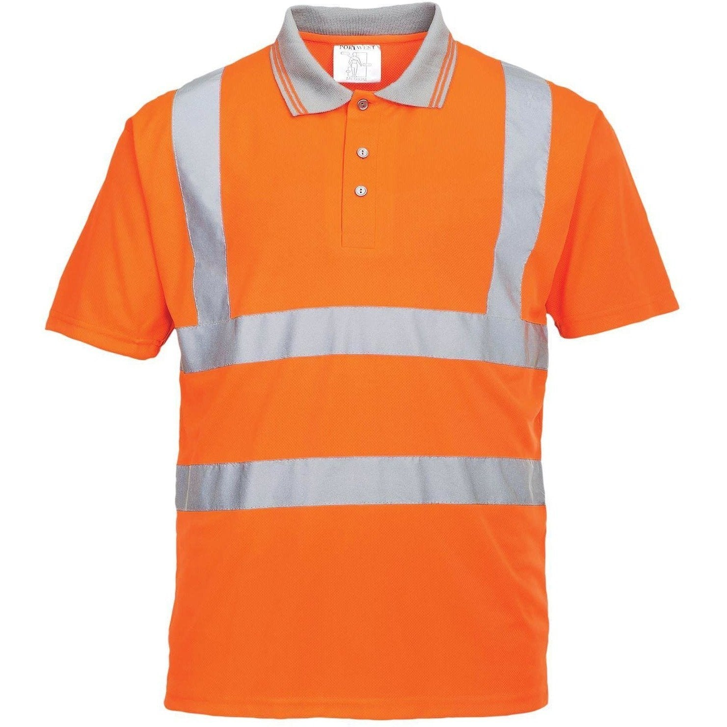 Portwest Hi-Vis Short Sleeved Polo GO/RT RT22 - reid outdoors