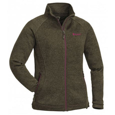 PINEWOOD LADIES GABRIELLA MEMBRANE FLEECE - GREEN/PINK