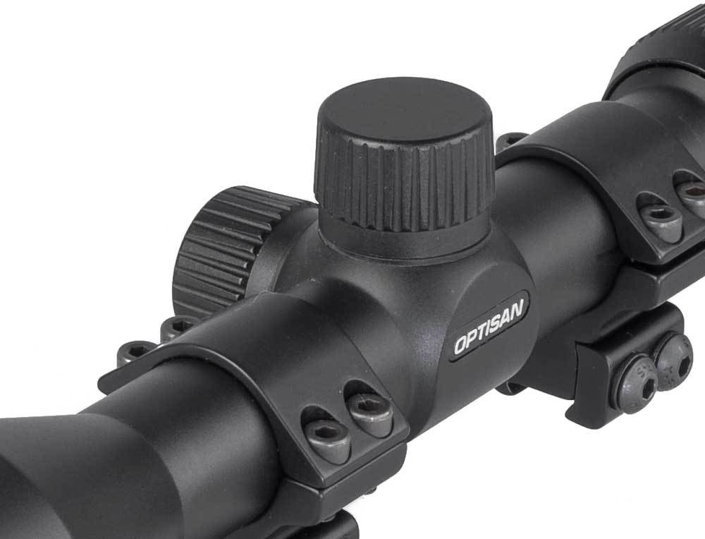 MTC Optisan HX 3-9x40 Rifle Scope - Black - BCR Reticle - reid outdoors
